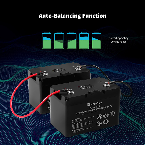 Renogy Smart Lithium-Iron Phosphate Battery 12 Volt 100Ah