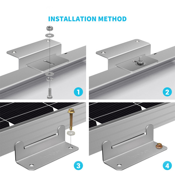 WIRING AND MOUNTING KIT FOR 100W SOLAR SETUP