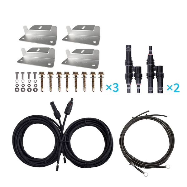 WIRING AND MOUNTING KIT FOR 300W SOLAR SETUP