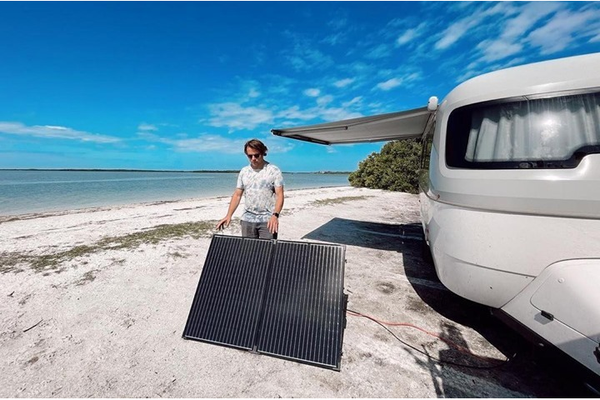 Why Folding Solar Panels Are Great for RVs and Camping