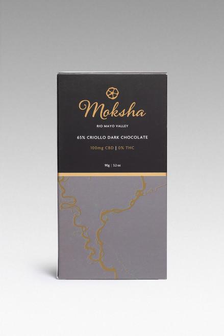 65% Criollo Dark Chocolate CBD Isolate Bar (100mg)