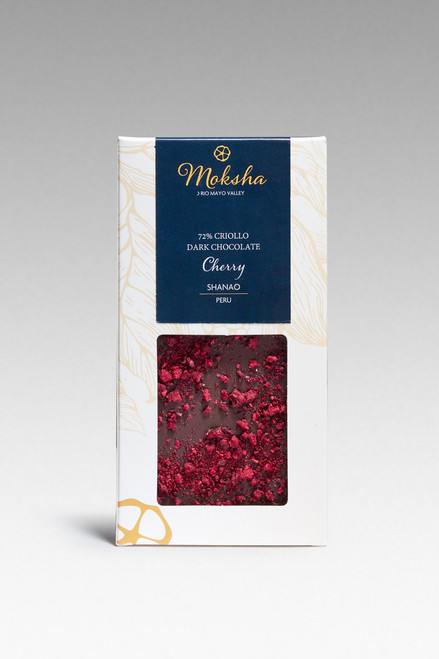 Dark Chocolate Cherry Dark Chocolate Bar 72% Cacao