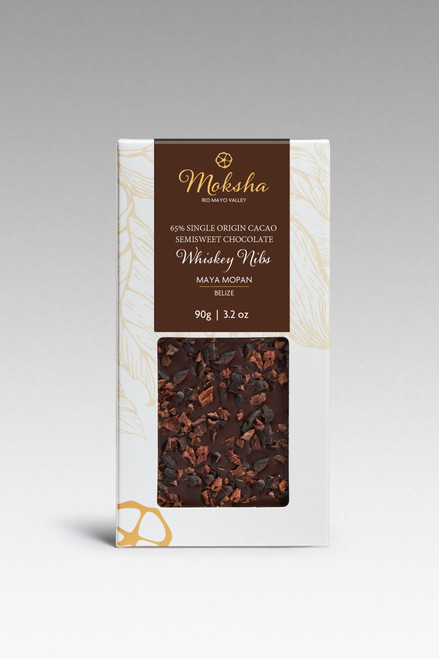 Whiskey Nib Chocolate Bar 65%