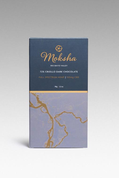 72% Criollo Dark Chocolate Full-Spectrum CBD Bar (100mg)