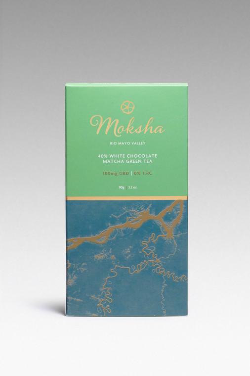 40% White Chocolate Matcha Green Tea CBD Isolate Bar (100mg)