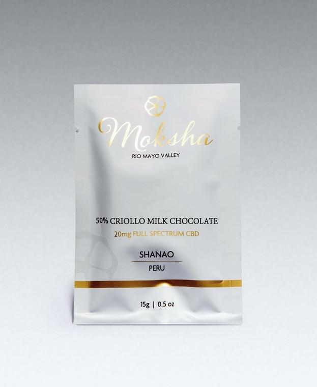 50% Criollo Vegan Milk Chocolate Full-Spectrum CBD Square (20mg)