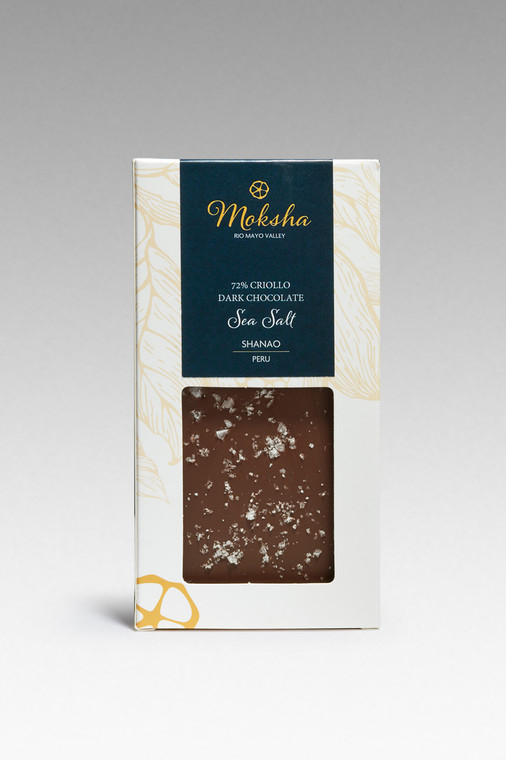 Dark Chocolate Sea Salt Chocolate Bar 72% Cacao