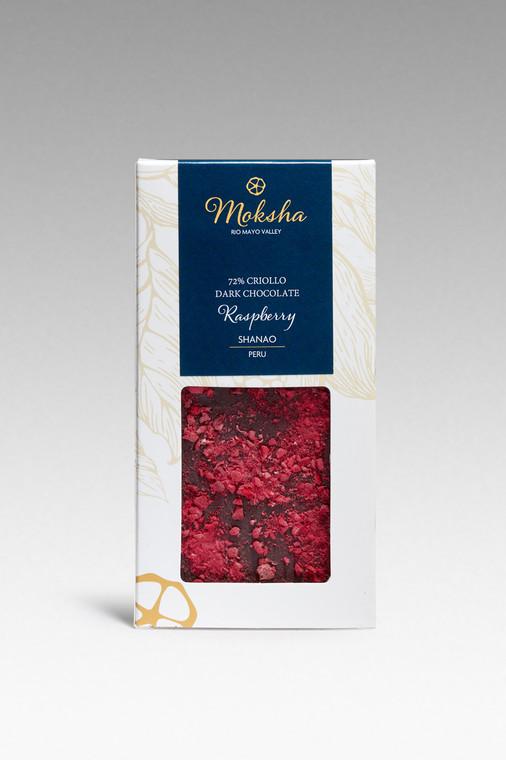 Dark Chocolate Raspberry Bar 72% Cacao