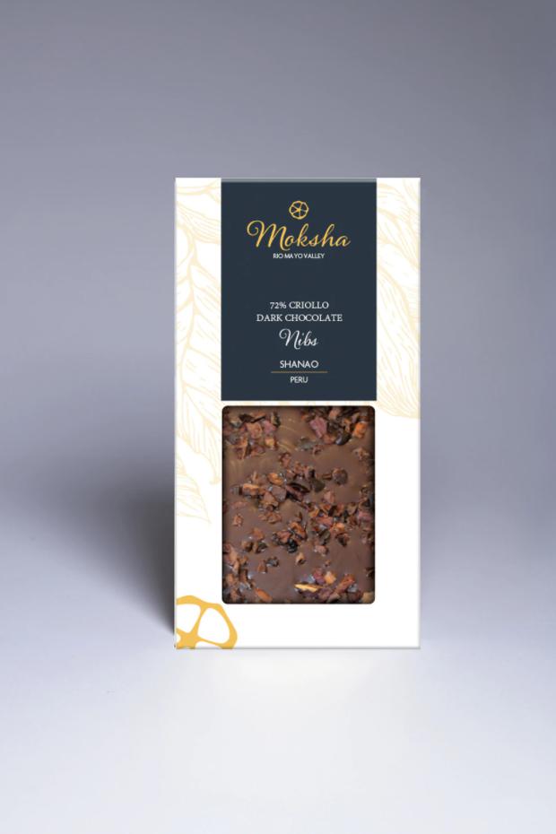 Moksha Chocolate - Dark Chocolate Nibs