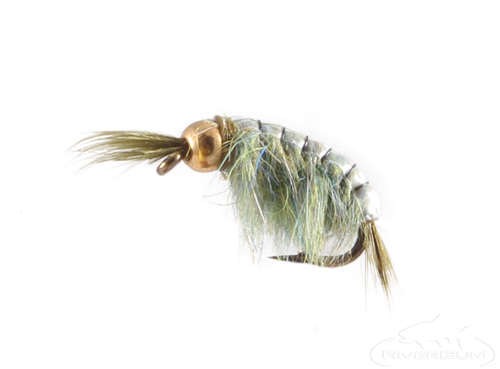 Trout fly  Scud  Sow bug nymph size 16 fishing dozen new Grey//Grey