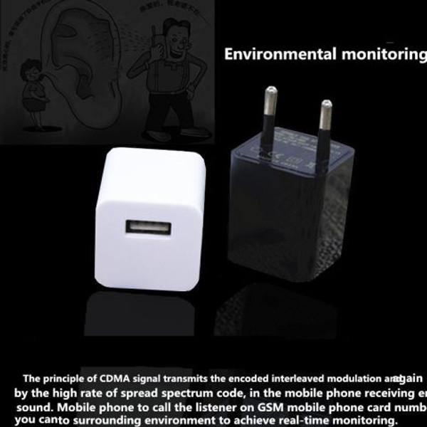 Cellphone Charger with Hidden Audio Recorder USA or EU connection