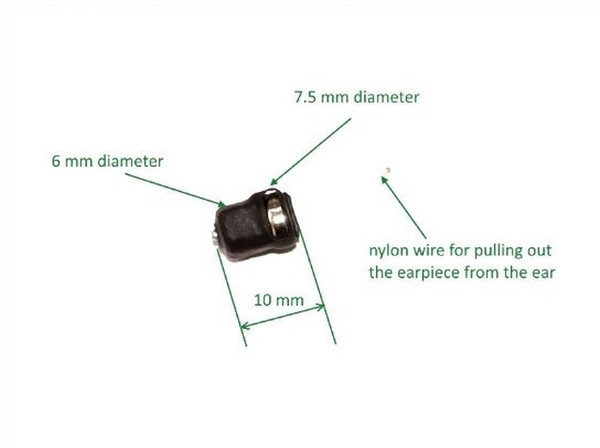 Small Earpiece Receiver