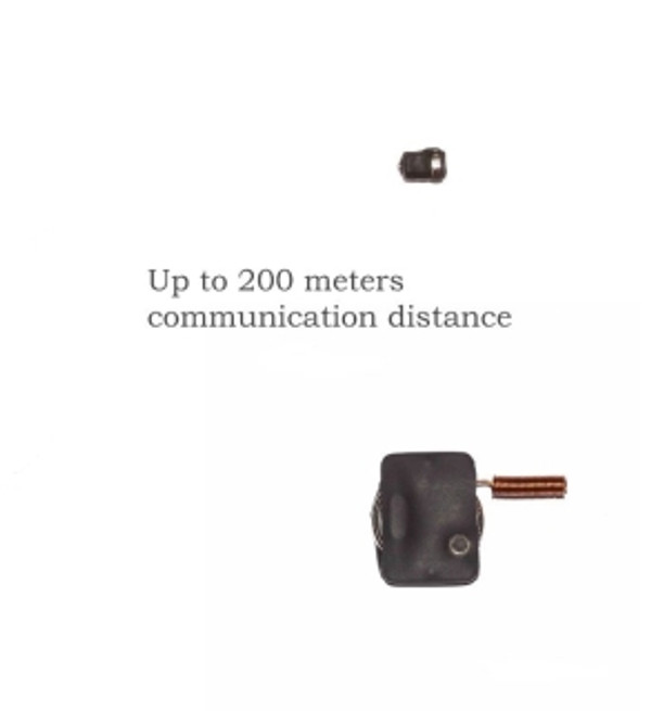 Invisible Ear Piece with UHF/FM Transmitter allowing Two-way Communications