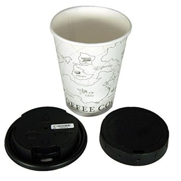 coffee cup lid hidden spy camera