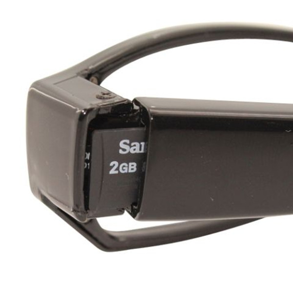 glasses with hidden HD camera showing small TF card