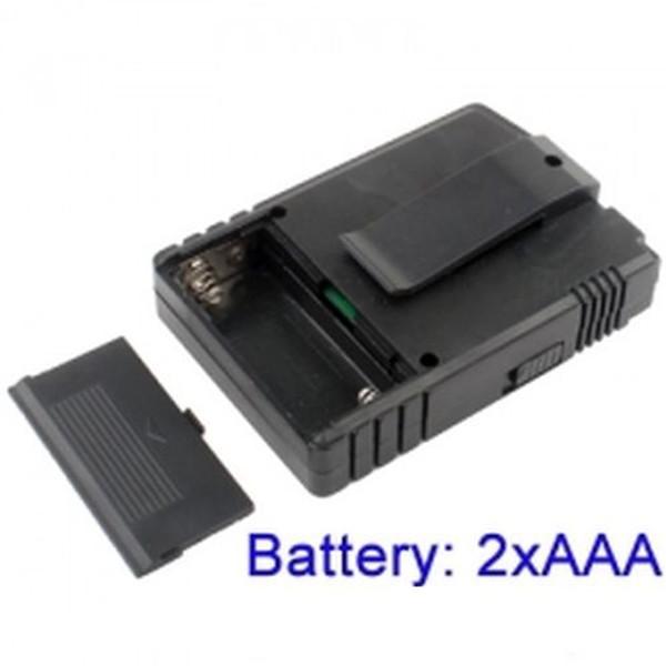 Wireless Receiver Requires 2 AAA Batteries