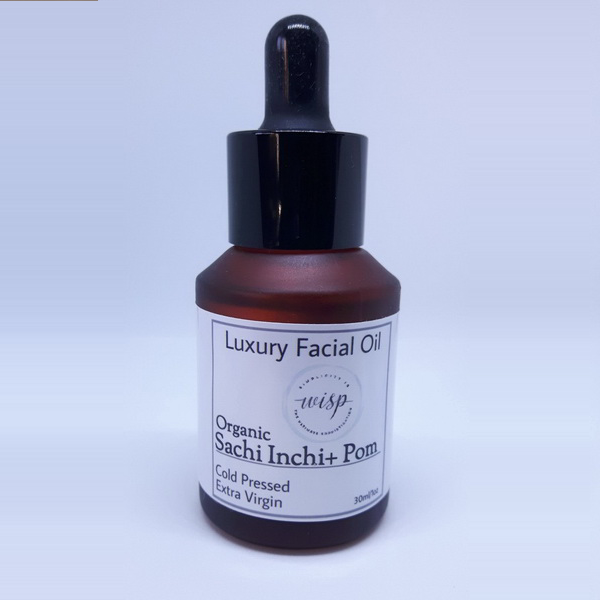 Luxury facial oil with sachi inchi and pomegranate oils