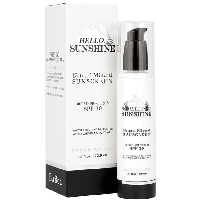 Hello, Sunshine Sunscreen SPF30 Beekman 1802  70.9ml/2.4oz
