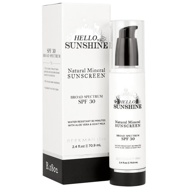 Hello, Sunshine Sunscreen SPF30 Beekman 1802  70.9ml/2.4oz