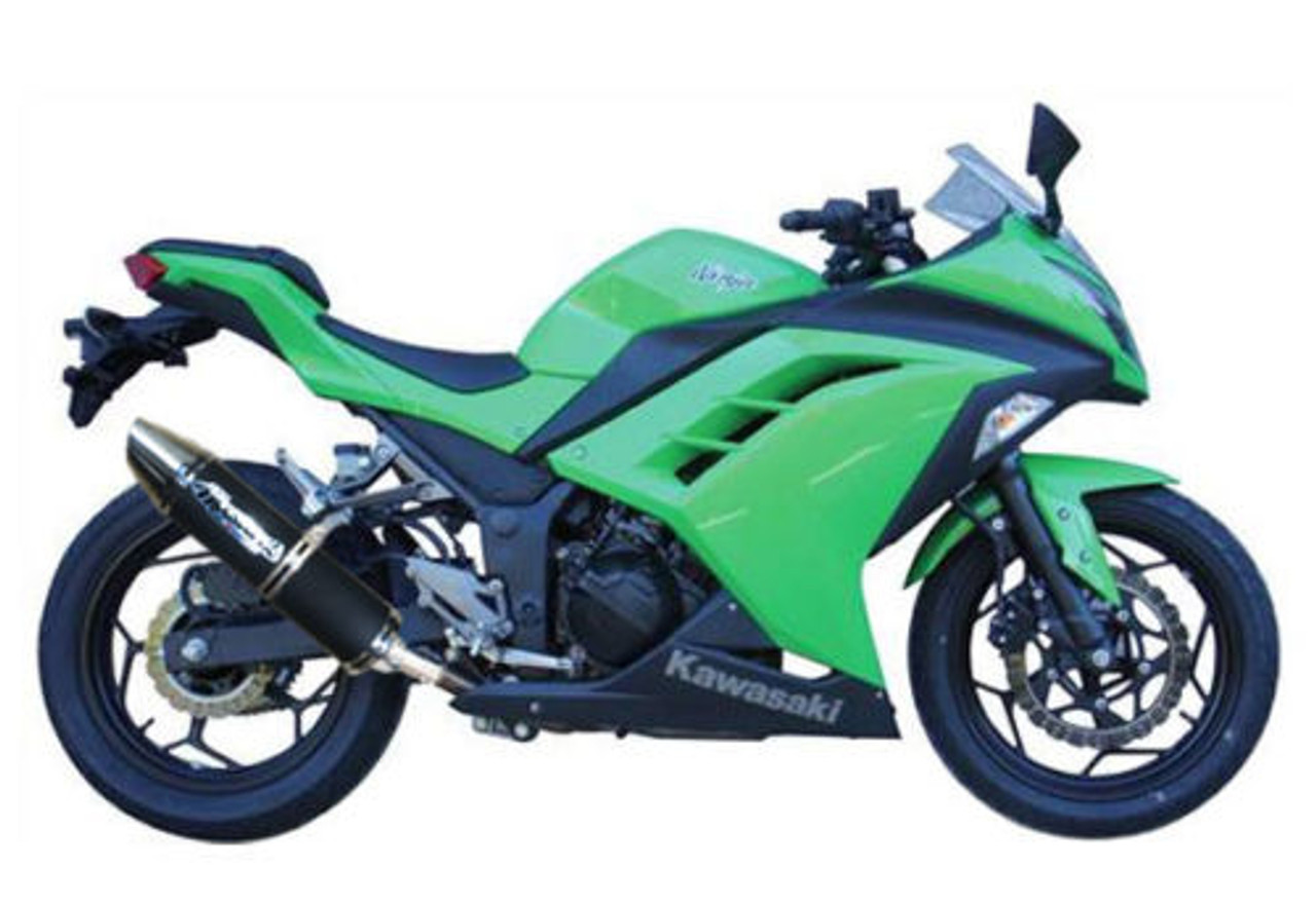 Ninja 300 2013-2017 MUSARRI S/O Sports Exhaust - Black