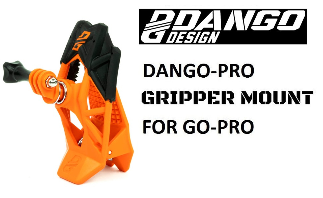 DANGO GRIPPER MOUNT suits all Go Pro Cameras - Orange