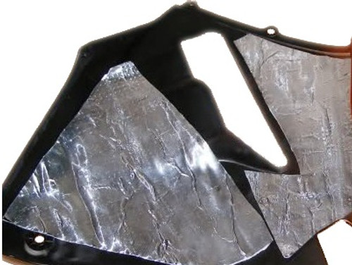 Perfect for insulating fairing panels against engine and exhaust heat exposure