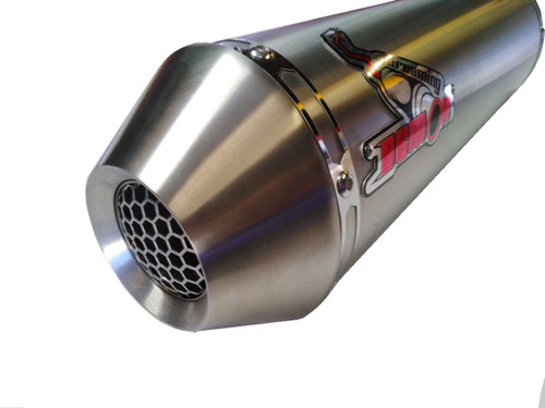 This exhaust also includes a GP style exit insert which can be fitted when low volume inserts are not fitted.