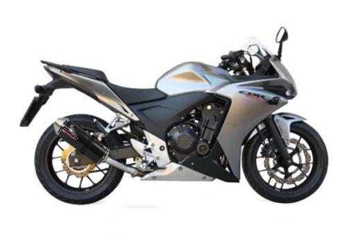 Honda CBR500 R 2013-2015 Screaming Demon Black Oval Slip on Performance Exhaust