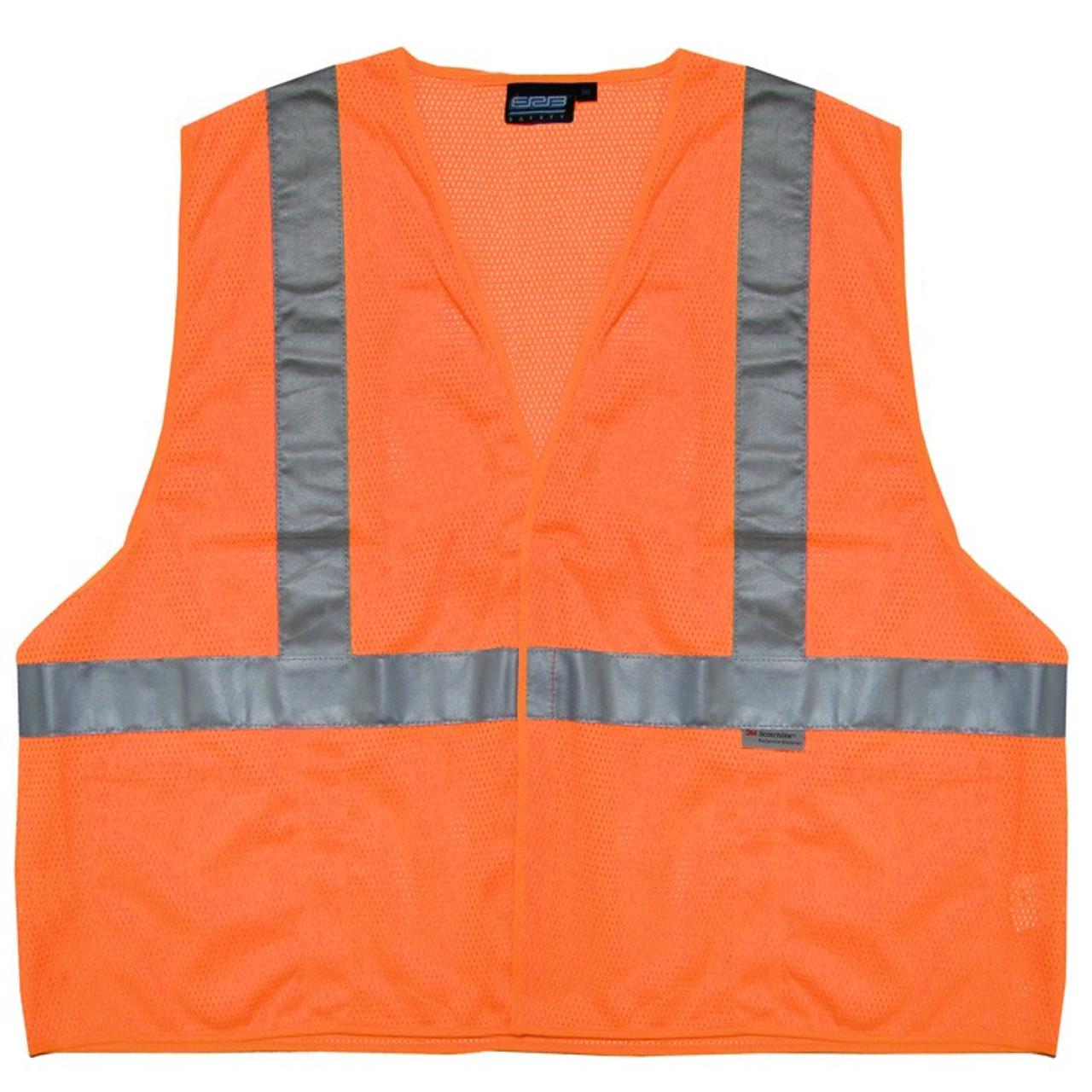 d07bd7b15969 14519 ERB S15 Class 2 Mesh Hi Viz Orange Large Safety Apparel ...