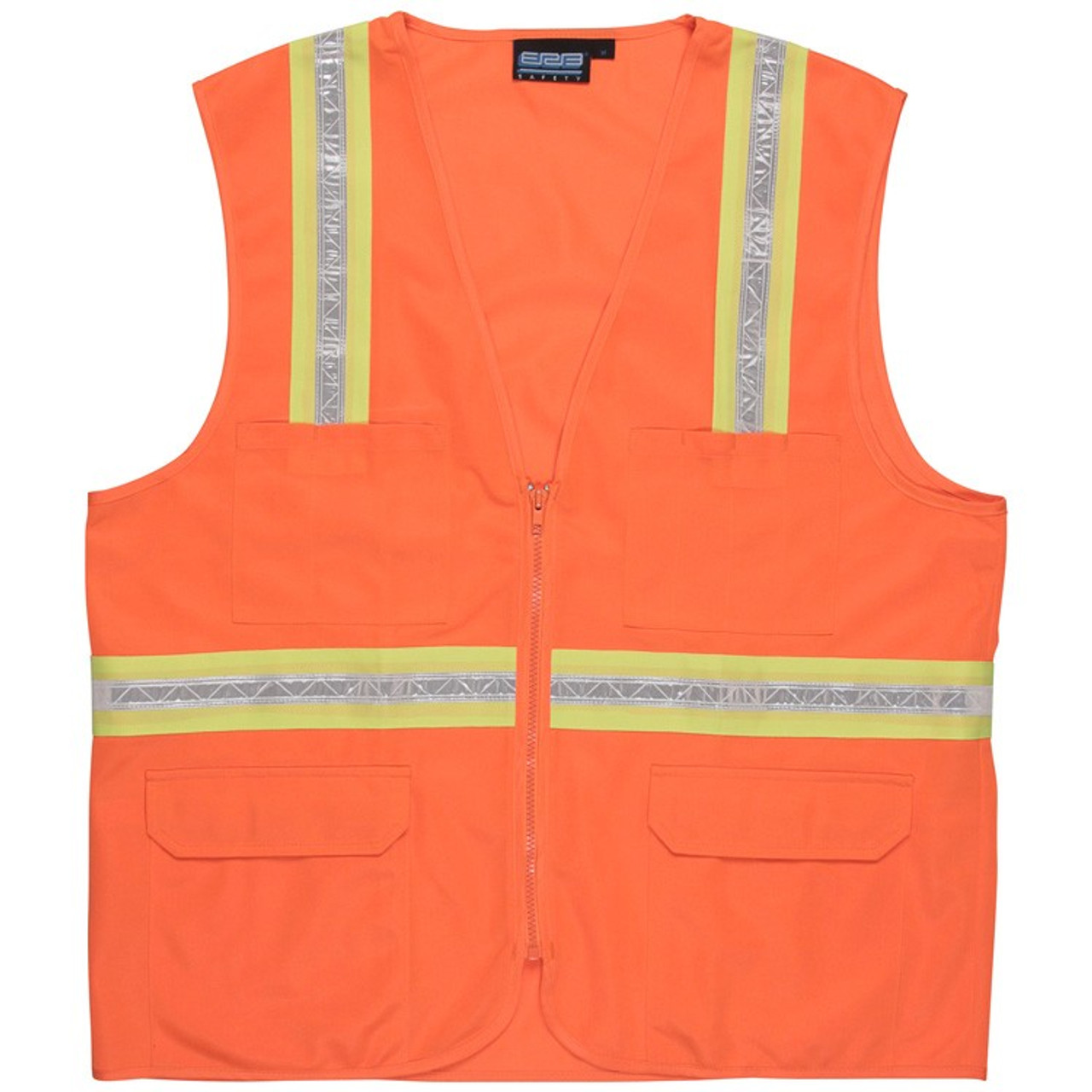 ERB 61750 S103 Non-ANSI Surveyors Vest X-Large Orange