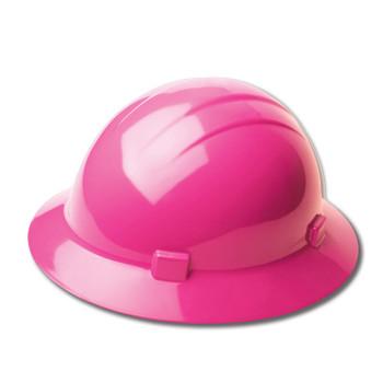19210 ERB Americana Full Brim Standard Hi-Viz Pink hard hats