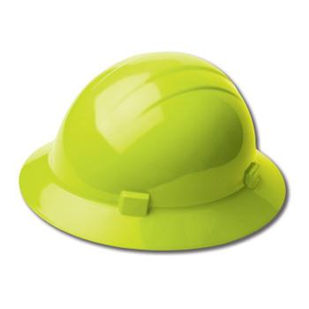 19220 ERB Americana Full Brim Mega Ratchet Hi Viz Lime hard hats