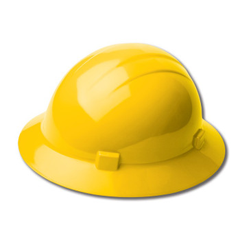 19222 ERB Americana Full Brim Mega Ratchet Yellow hard hats