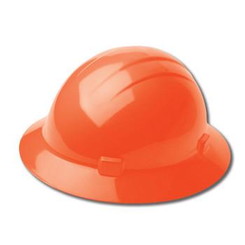 19223 ERB Americana Full Brim Mega Ratchet Orange hard hats