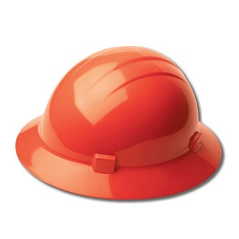 19225 ERB Americana Full Brim Mega Ratchet Hi Viz Orange hard hats
