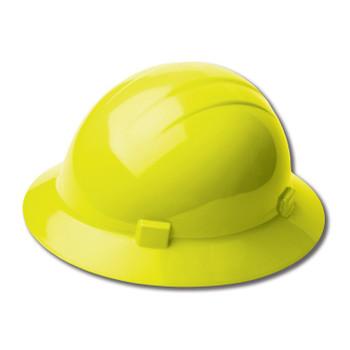 19228 ERB Americana Full Brim Mega Ratchet Hi Viz Yellow hard hats