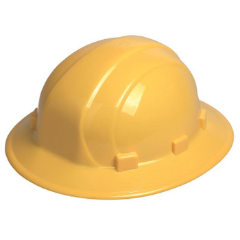 19502 ERB Omega II Full Brim Standard Yellow Head Protection