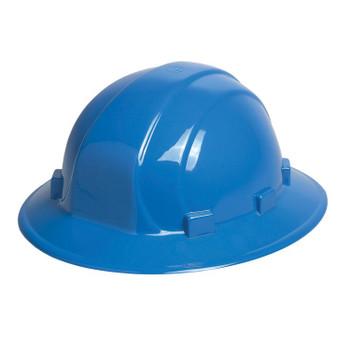19916 ERB Omega II Full Brim Mega Ratchet Blue Head Protection