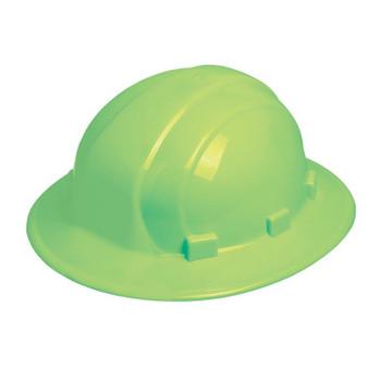 19920 ERB Omega II Full Brim Mega Ratchet Hi Viz Lime Head Protection
