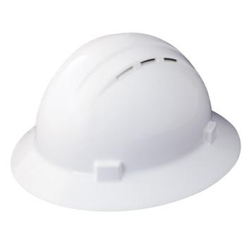 19431 ERB Americana Full Brim Vent Mega Ratchet White hard hats