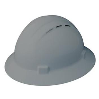 19637 ERB Americana Full Brim Vent Mega Ratchet Gray hard hats