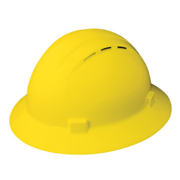 19432 ERB Americana Full Brim Vent Mega Ratchet Yellow hard hats