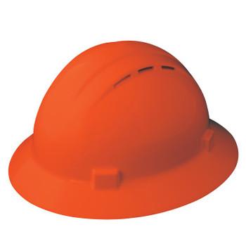 19437 ERB Americana Full Brim Vent Mega Ratchet Hi-Viz Orange hard hats