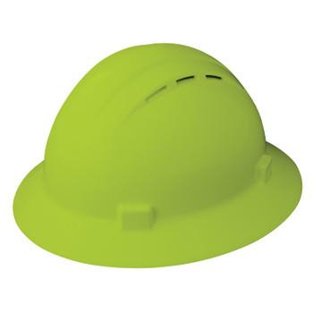 19430 ERB Americana Full Brim Vent Mega Ratchet Hi-Viz Lime hard hats
