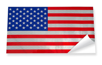 19660 ERB Reflective American Flag Safety Accessories - Head Accessories