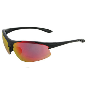 18611 ERB Commandos Black frame Red Revo lens Eye Protection