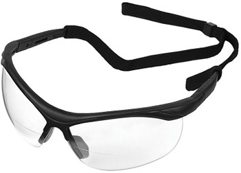 16873 ERB ERBX Black frame, Clear lens 2.5 Reader Eye Protection