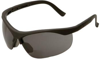 16877 ERB ERBX Black frame, Smoke lens 2.5 Reader Eye Protection