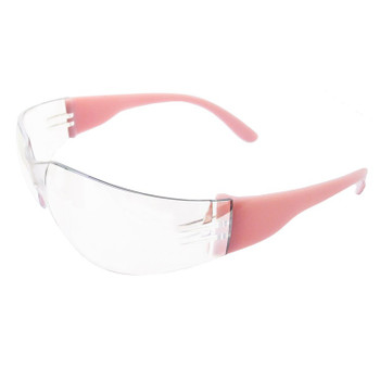 17946 ERB Lucy Pink temple, Clear Anti-fog lens Eye Protection