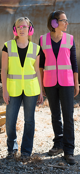 womens pink safety  vests-clothes